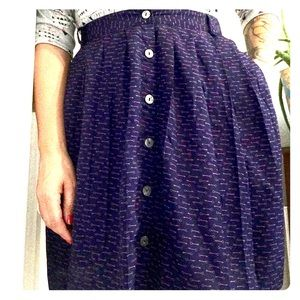 Purple Skirt with key pattern & pockets
